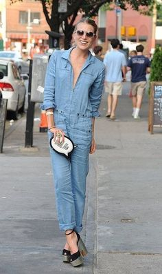 I can not get enough of this denim onesie. epic.