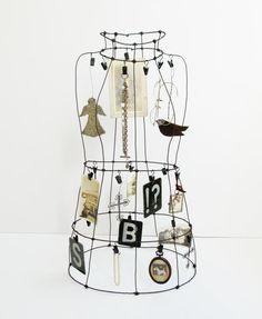 Large Wire Art Dress Form  Mannequin for от SassytrashAntiques
