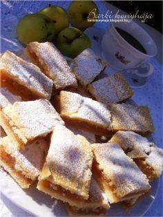 Barbi konyhája: Almás béles Hungarian Desserts, Hungarian Recipes, Sweet Desserts, No Bake Desserts, Dessert Recipes, Bakery Recipes, Cooking Recipes, Baking Muffins, Winter Food