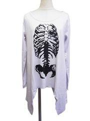 Bone Print Cutsew White. See more at http://www.cdjapan.co.jp/apparel/superlovers.html #harajuku #superlovers