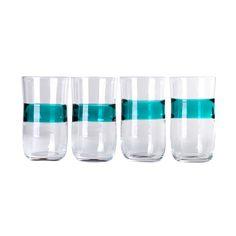 Mose Glass Hi-Ball Turquoise 4Pc design inspiration on Fab.