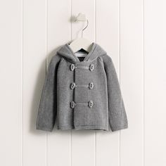 Baby Boys' Knitted Duffle Coat   The White Company