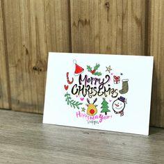 [D-8] 성탄과 새해복많이받으세요. - Merry Christmas Happy New Year - 이랑학교아이들과 올해 마지막 시간으로 만든 크리스마스엽서만들기 - #캘리그라피 #캘리엽서 #이랑학교 #메리크리스마스 #핸드메이드엽서 #한성욱캘리 #크리스마스 Caligraphy, Merry, Cartoon, Tableware, Illustration, Pictures, Ideas, Engineer Cartoon, Photos