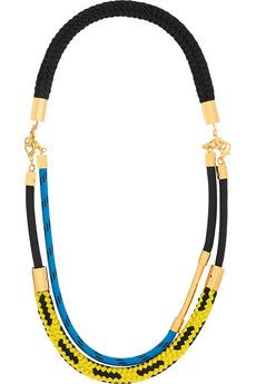Marni Gold-plated rope necklace | NET-A-PORTER