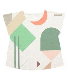 Fun graphic shapes shirt by ayakyo.