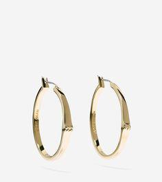 Ippolita 18K Glamazon Heavy Bottom Large Hoop Earrings c2ILK