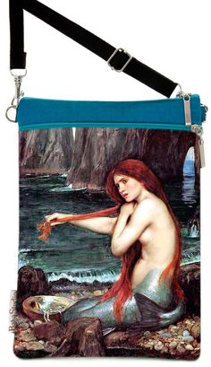 Mermaid PreRaphaelite picture by Waterhouse on by BabaStudioPrague, $29.00