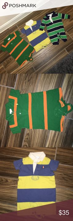 Ralph Lauren 🐴 Baby Onesies !! Ralph Lauren 🐴 Baby Onesies | Two Short Sleeve, One Long Sleeve | No Stains | No Holes | Great Condition | 100% Cotton Ralph Lauren One Pieces Bodysuits