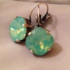 Sabika like swarovski crystal earrings mariana inspired pacific opal on Etsy, $44.99