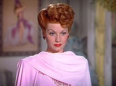 Lucille Ball...love this color red-maybe I'll be a redhead next...
