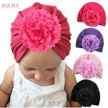 612595d43b2 Baby Hat Big Floral Baby Girls Hats Flower Baby Girls Caps Children s  Spring Autumn Hats For Girls Kids Accessories DejorChicoco