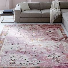 Persian-Style Rug - Pink #westelm  ~ Great pin! For Oahu architectural design visit http://ownerbuiltdesign.com