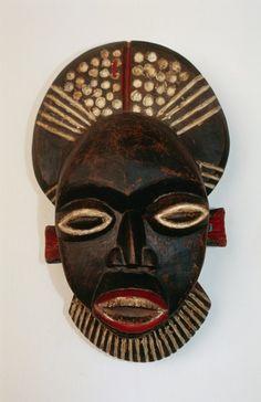 Anthropomorphic ritual mask, Cameroon