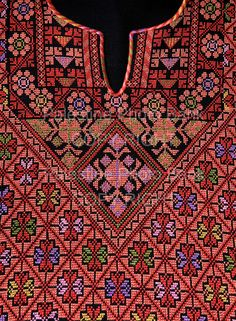 Close Ups of Palestinian Traditional Costumes copy right steve sabella Cross Stitching, Cross Stitch Embroidery, Cross Stitch Designs, Cross Stitch Patterns, Palestinian Embroidery, Cross Stitch Needles, Hand Embroidery Patterns, Textile Prints, Sewing Crafts