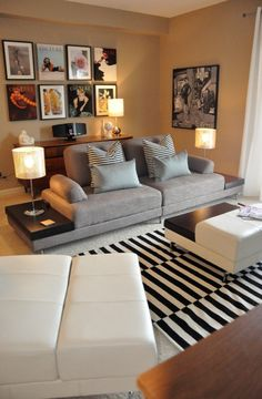 "LOVE this loveseat with built in end tables. So ""Mad Men"". Wish I knew where the photo was from."