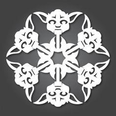 Star Wars snowflakes / Geeky DIY Christmas Decorations / WTFJeans