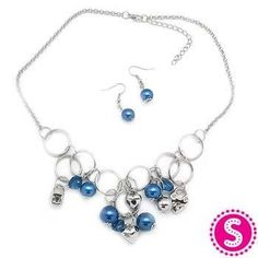 Blue & silver necklace from Paparazzi Jewelry