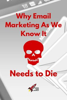 So many new bloggers fall into the trap of bad email marketing strategies. Don't be one of them. Here's why email marketing as we know it needs to die. Online Marketing.
