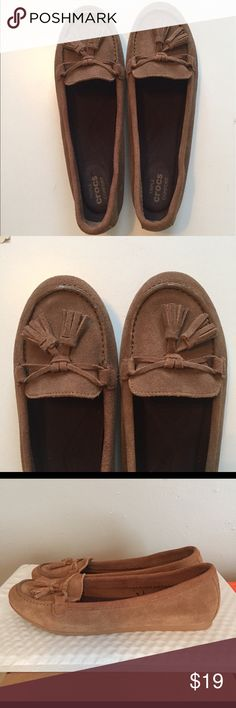 Crocs suede Lina slip on loafer size 8. New Beautiful pair of Crocs Lina suede loafers. Brand new without the tags. Never worn. Hazelnut size 8. CROCS Shoes Flats & Loafers