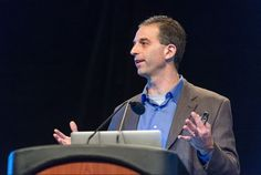 Synberc PI Ron Weiss of MIT giving a keynote address at the 2014 iGEM Jamboree