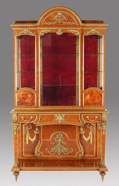 A Superb Quality Palatial French Louis XVI Style Ormolu Mounted Satinwood And Kingwood Parquetry