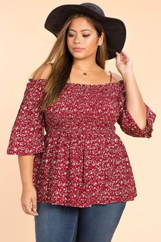 Floral Smocked Babydoll Top