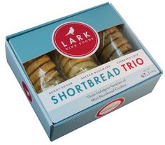 SHORTBREAD TRIO  Three indulgent varieties of mini shortbread cookies.