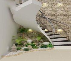 Excellent Indoor Garden Design Ideas In Under The Stairs 36 Staircase Interior Design, Home Stairs Design, Home Room Design, Home Interior Design, House Design, Garden Design, Indoor Garden, Home And Garden, Dressing Design