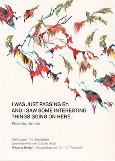 I was just passing by. by Elisa Vendramin, via Behance