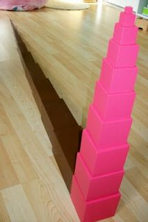 Pink Tower extensions-Montessori Free Fall