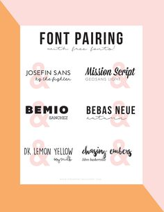 I'm sure by now you know that I LOVE free fonts. Love. Love. Love. I'm always on the hunt for more fonts to download and use. And of course share with you! (I've shared some of my favorites here, her