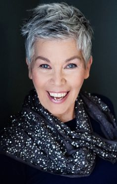 Stylish grey haired women over 40