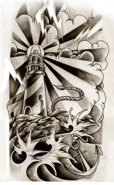 Lighthouse commission by WillemXSM on deviantART. Neat.