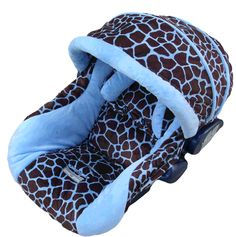 Baby Blue Giraffe|Fab Style Kids Rooms http://fabstylekidsrooms.com/Apparel-and-More/Car-Seat-Covers/Infant-Car-Seat-Covers/Infant-Boy-Car-Seat-Covers/Baby-Blue-Giraffe #baby #boy