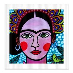 Frida Kahlo Shower Curtains  Colorful Mexican by HeatherGallerArt, $90.00