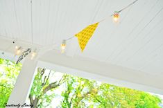 DIY Pendant Banner String Lights  ….from basic Christmas lights!