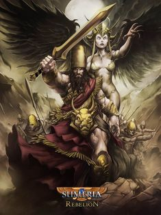 "Sargon The great -- Hello Everybody Here a new image for Mitos y Leyendas TCG from chile, Sumerian edition,my interpretation of Sargon the akkad and a very Frazetta's Inanna goddess, let's wiki attack: ""Sargon of Akka..."