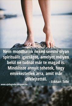 Eckhart Tolle gondolata a spirituális igazságokról. A kép forrása: Új Világtudat Eckhart Tolle, Life Quotes, Spirituality, Motivation, Inspiration, Zen, Running, Beauty, Words