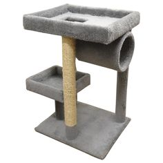 New Cat Condos Premier Cat Lounger *** Special cat product just for you. : Cat Beds and Furniture Modern Cat Furniture, Pet Furniture, Cat Perch, Cat Towers, Plush Carpet, Cat Condo, Cat Room, Cat Scratching, Find Pets