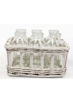 White Willow Basket 6 Vases @ rosefields.co.uk