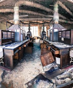 A chemistry lab in an abandoned Belgian University