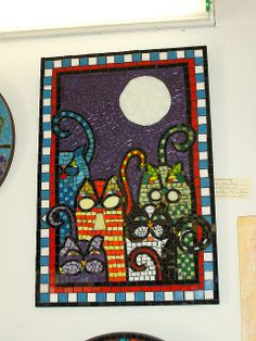Boys Nite Out by Susan Turlington Mosaics, via Flickr