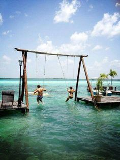 An ocean swing! Would be a fun lake idea too :)