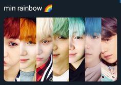 The many colours of Min Yoongi Namjoon, Hoseok, Taehyung, Bts Suga, Min Yoongi Bts, Bts Bangtan Boy, Foto Bts, K Pop, Bts Memes