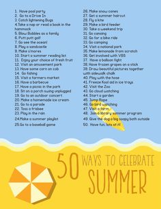 A great Summer Bucket List of things to accomplish this summer as a family!