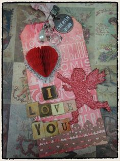 Tim Holtz-Valentine's day tag