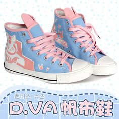 Cosplay Game Overwatch OW D.VA Cute Women Casual Canvas High Top Shoes Sneakers   eBay