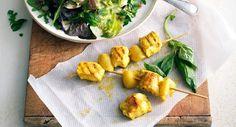 Brochettes de poulet au curry et citronVoir la recette des brochettes de poulet au curry et citron
