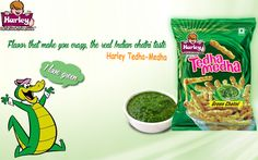 The real Indian Chatni Taste in Crunchy Tedha-Medha that make you crazy. For more visit http://www.harleyfoods.com/green-chatni.html
