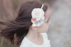 Sweet Rose headband by Birdie Baby Boutique on Etsy